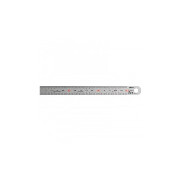ステンレス・アルミ定規 ヤマヨ シルバー直尺 15cm 108-0002
