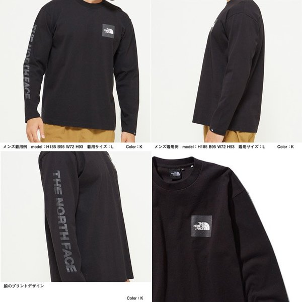 ノースフェイス ロングスリーブ スクエアロゴ ティー THE NORTH FACE NT81931 長袖 Tシャツ|progres|03