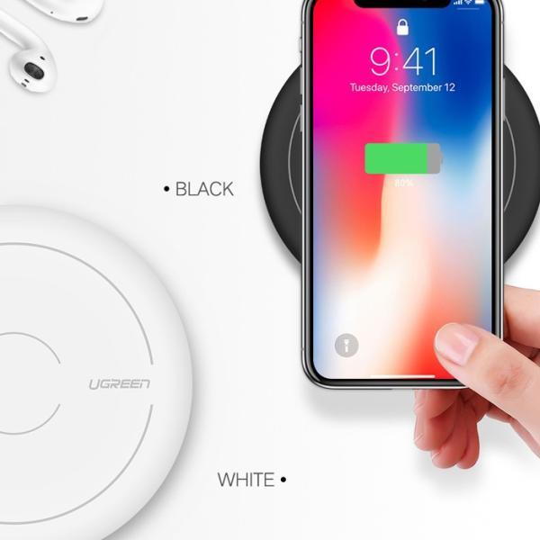 ワイヤレス充電器 あすつく 1年保証 Qi 無線充電器 充電速度が75%もアップ 米国基準QC2.0 急速充電 搭載 iPhone 8 Plus iPhone X Note8 Galaxy 対応 CD171|project-a|02