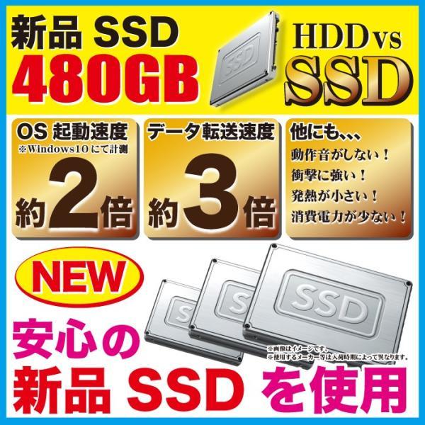 ノートパソコン 中古パソコン 新品SSD480GB MicrosoftOffice 第四世代Corei5 メモリ8GB Windows10 USB3.0 HDMI マルチ NEC Versapro アウトレット|project-a|06