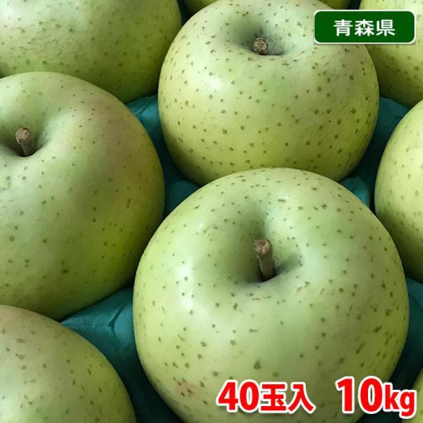 【送料無料】青森県産 りんご 王林 40玉サイズ 10kg(CA貯蔵)