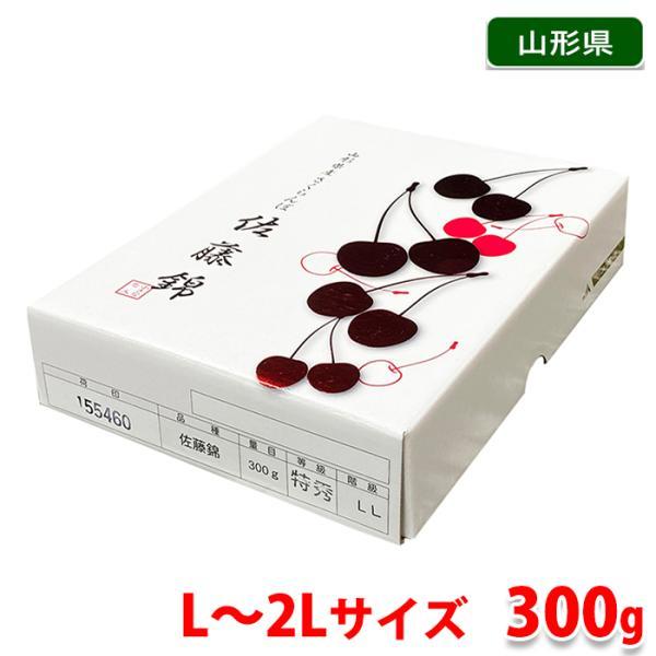 【送料無料】山形県産 さくらんぼ 佐藤錦 Lサイズ(48粒入り)300g 化粧箱