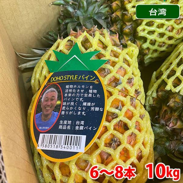 送料無料 台湾産 パイン 6〜8本入 10kg