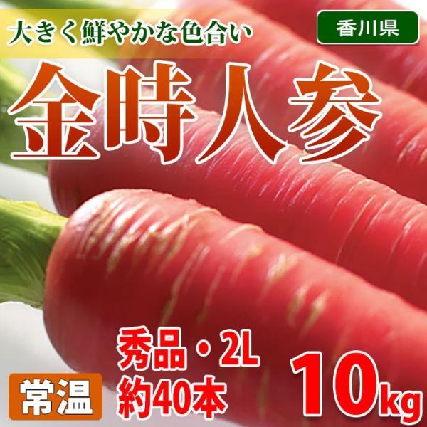 【送料無料】 香川県産 金時人参 秀品・2Lサイズ 10kg箱