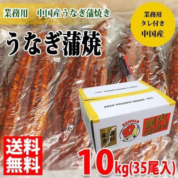 送料無料 業務用 冷凍うなぎ蒲焼き(中国産)35尾入り 10kg(一尾285g)