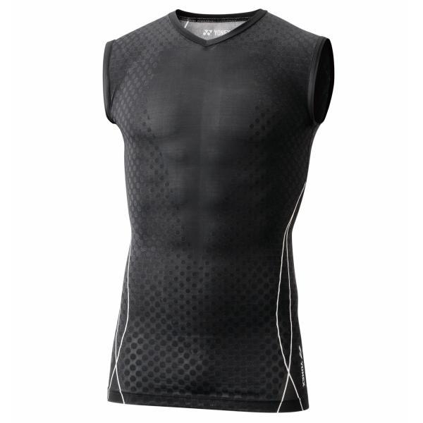 YONEX/ヨネックス ノースリーブシャツ STBP1012 007ブラック|pronet-sports