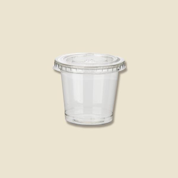 ソースカップ HEIKO 透明カップ A-PET 1オンス 本体・蓋セット 50個