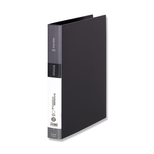 キングジム シンプリーズ リングファイル 黒 642SP