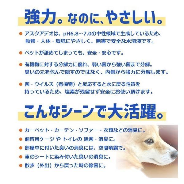 動物にやさしい除菌消臭水 アスクアデオ【ペット写真をラベルにします】Bセット(350mlスプレー2本+詰替え用2L)次亜塩素酸水 100ppm 愛犬 愛猫 小動物 名入れ propre-racli 06
