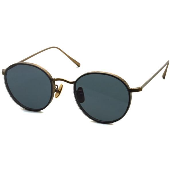 A.D.S.R. BUKEM 01(a) ブケム Antique Gold - Black Lenses アンティークゴールド-ブラックレンズ(ダークグレー) ラウンドメタル ボストン サングラス|props-tokyo
