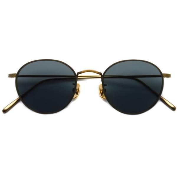A.D.S.R. BUKEM 01(a) ブケム Antique Gold - Black Lenses アンティークゴールド-ブラックレンズ(ダークグレー) ラウンドメタル ボストン サングラス|props-tokyo|02