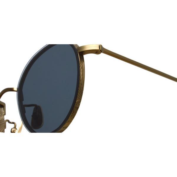 A.D.S.R. BUKEM 01(a) ブケム Antique Gold - Black Lenses アンティークゴールド-ブラックレンズ(ダークグレー) ラウンドメタル ボストン サングラス|props-tokyo|04