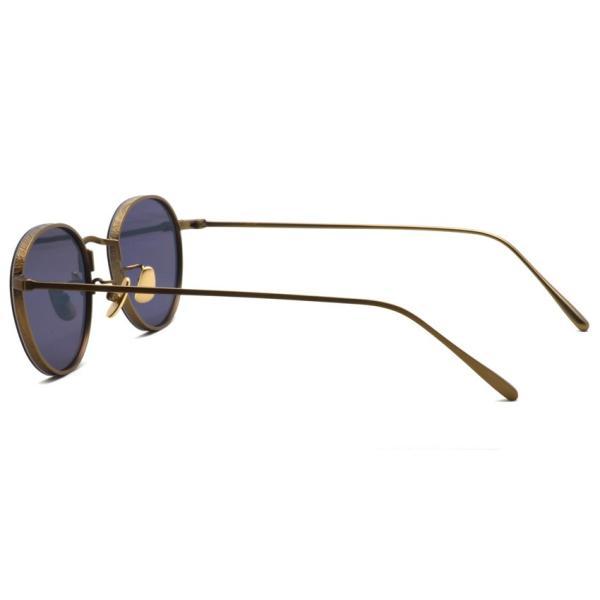 A.D.S.R. BUKEM 01(a) ブケム Antique Gold - Black Lenses アンティークゴールド-ブラックレンズ(ダークグレー) ラウンドメタル ボストン サングラス|props-tokyo|06