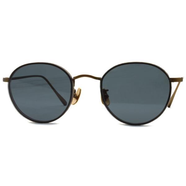 A.D.S.R. BUKEM 01(a) ブケム Antique Gold - Black Lenses アンティークゴールド-ブラックレンズ(ダークグレー) ラウンドメタル ボストン サングラス|props-tokyo|07