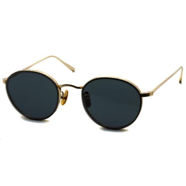 A.D.S.R. BUKEM02(a) ブケム Gold - Black Lenses ゴールド-ブラックレンズ(ダークグレー) ラウンドメタル ボストン サングラス|props-tokyo