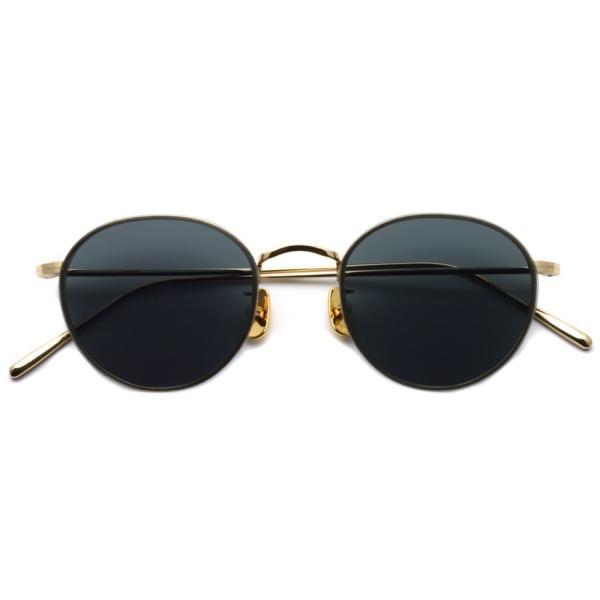A.D.S.R. BUKEM02(a) ブケム Gold - Black Lenses ゴールド-ブラックレンズ(ダークグレー) ラウンドメタル ボストン サングラス|props-tokyo|02
