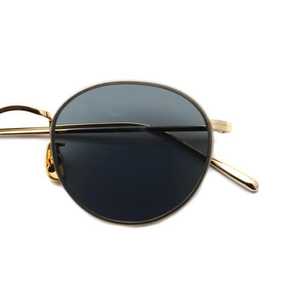 A.D.S.R. BUKEM02(a) ブケム Gold - Black Lenses ゴールド-ブラックレンズ(ダークグレー) ラウンドメタル ボストン サングラス|props-tokyo|03