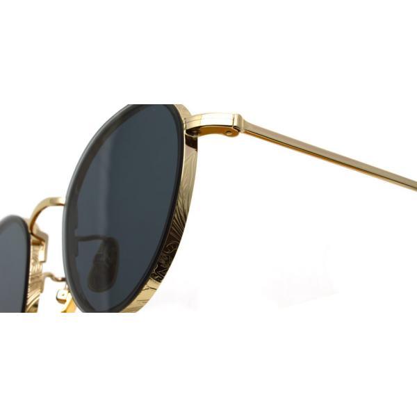 A.D.S.R. BUKEM02(a) ブケム Gold - Black Lenses ゴールド-ブラックレンズ(ダークグレー) ラウンドメタル ボストン サングラス|props-tokyo|04