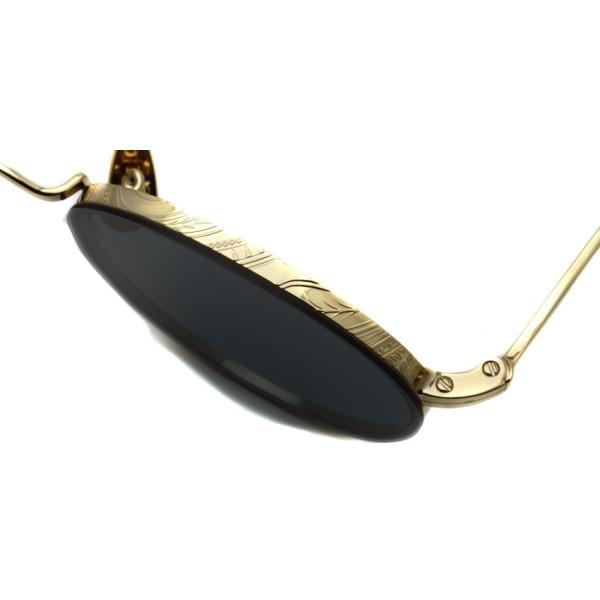 A.D.S.R. BUKEM02(a) ブケム Gold - Black Lenses ゴールド-ブラックレンズ(ダークグレー) ラウンドメタル ボストン サングラス|props-tokyo|05