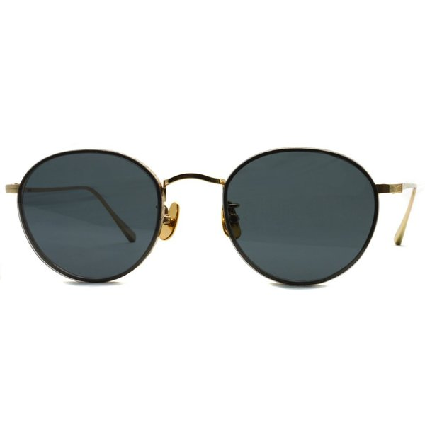 A.D.S.R. BUKEM02(a) ブケム Gold - Black Lenses ゴールド-ブラックレンズ(ダークグレー) ラウンドメタル ボストン サングラス|props-tokyo|07
