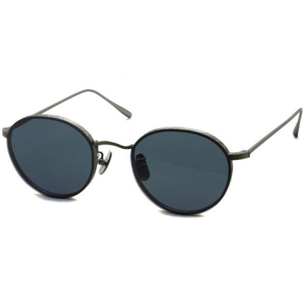 A.D.S.R. BUKEM 03(a) ブケム Antique Silver - Black Lenses アンティークシルバー-ブラックレンズ(ダークグレー) ラウンドメタル ボストン サングラス|props-tokyo