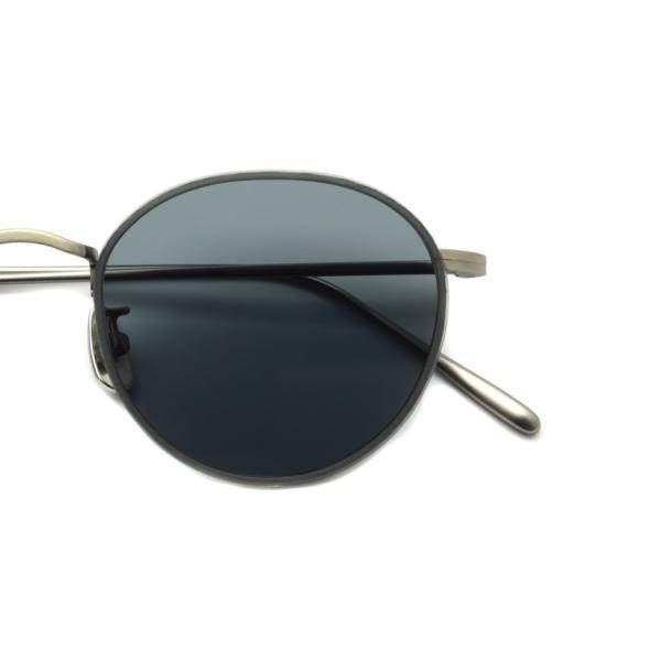 A.D.S.R. BUKEM 03(a) ブケム Antique Silver - Black Lenses アンティークシルバー-ブラックレンズ(ダークグレー) ラウンドメタル ボストン サングラス|props-tokyo|03