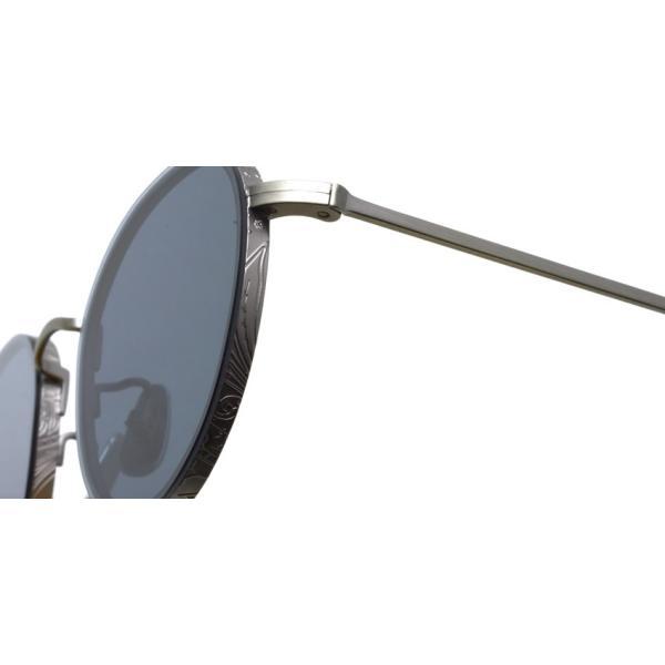 A.D.S.R. BUKEM 03(a) ブケム Antique Silver - Black Lenses アンティークシルバー-ブラックレンズ(ダークグレー) ラウンドメタル ボストン サングラス|props-tokyo|04