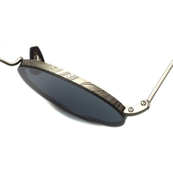 A.D.S.R. BUKEM 03(a) ブケム Antique Silver - Black Lenses アンティークシルバー-ブラックレンズ(ダークグレー) ラウンドメタル ボストン サングラス|props-tokyo|05