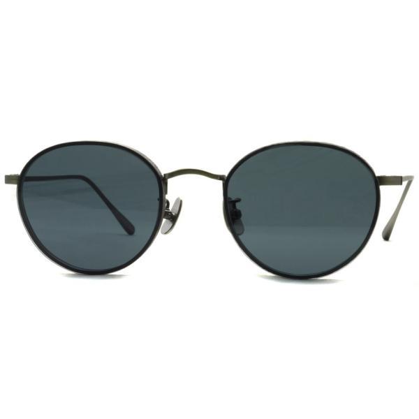 A.D.S.R. BUKEM 03(a) ブケム Antique Silver - Black Lenses アンティークシルバー-ブラックレンズ(ダークグレー) ラウンドメタル ボストン サングラス|props-tokyo|07