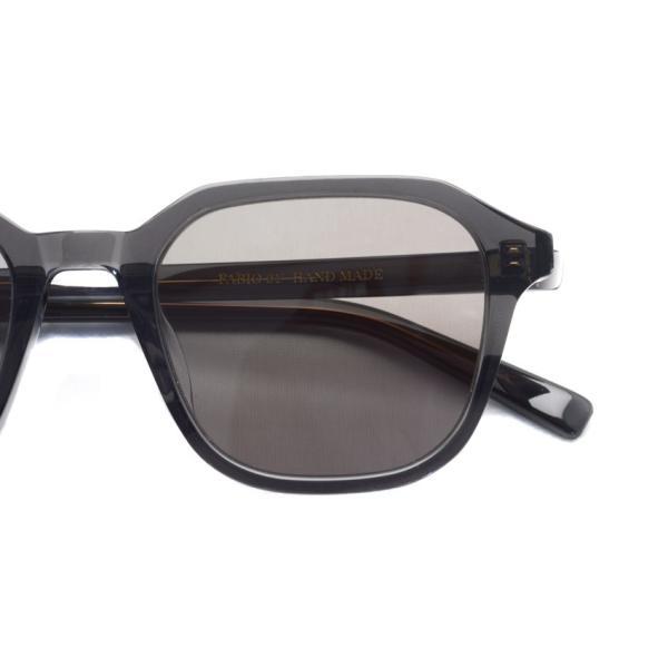 A.D.S.R. FABIO01 ファビオ Clear Black クリアブラック-フラットダークグレーレンズ サングラス|props-tokyo|03