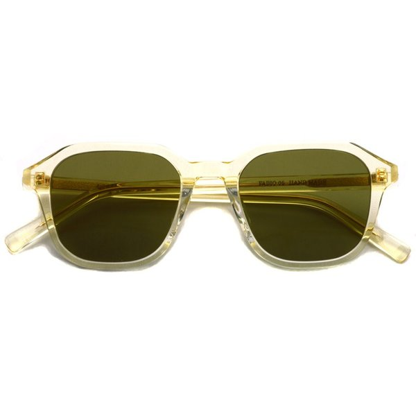 A.D.S.R. FABIO05 ファビオ Clear Yellow クリアイエロー-フラットダークグリーンレンズ サングラス|props-tokyo|02
