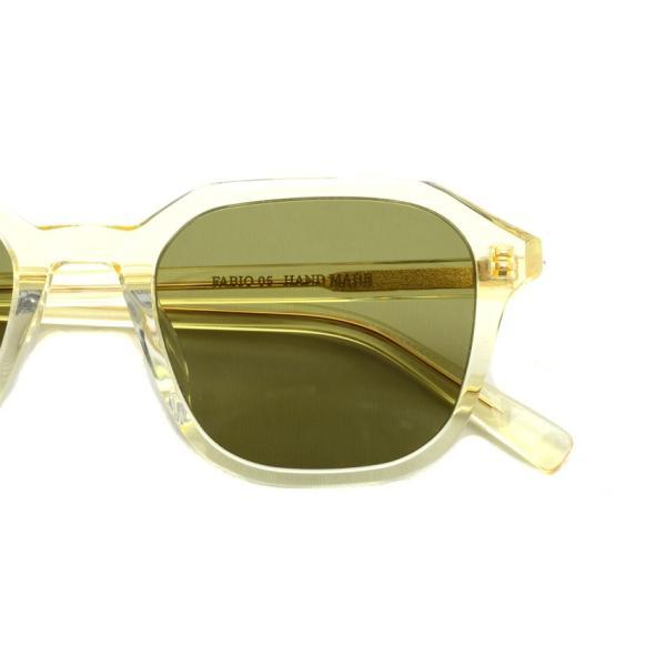 A.D.S.R. FABIO05 ファビオ Clear Yellow クリアイエロー-フラットダークグリーンレンズ サングラス|props-tokyo|03
