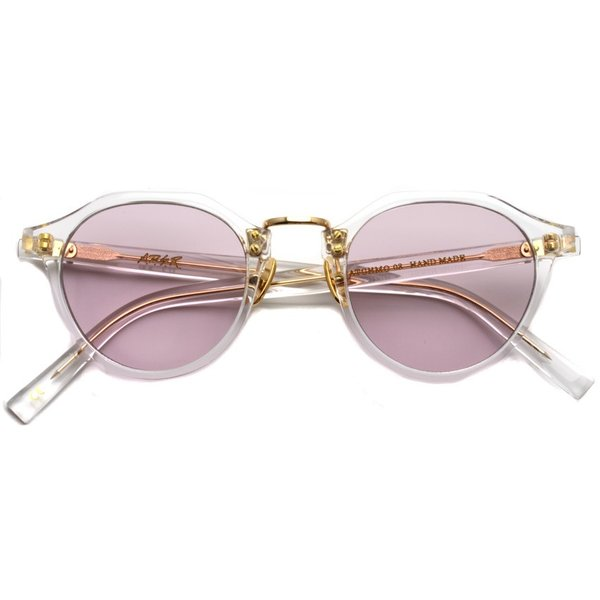 A.D.S.R. SATCHMO 03(b) サッチモ Clear / Gold - Light Pink クリア/ゴールド ライトピンクレンズ サングラス 【送料無料】|props-tokyo|02