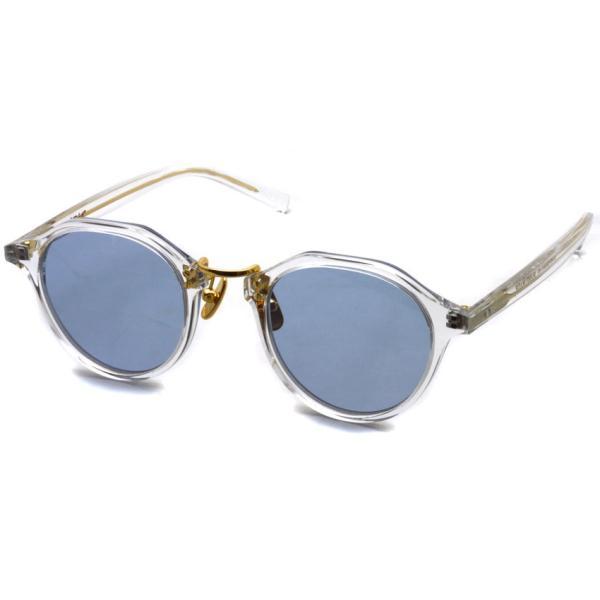A.D.S.R. SATCHMO 03 サッチモ Clear / Gold - Light Blue クリア/ゴールド ライトブルーレンズ サングラス 【送料無料】|props-tokyo