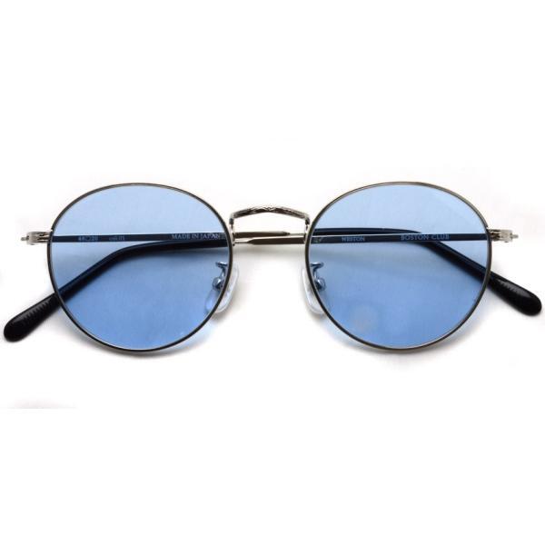 BOSTON CLUB ボストンクラブ WESTONSun 01 Silver - Blue Lenses シルバー-ライトブルーレンズ サングラス ボストン ラウンド|props-tokyo|02