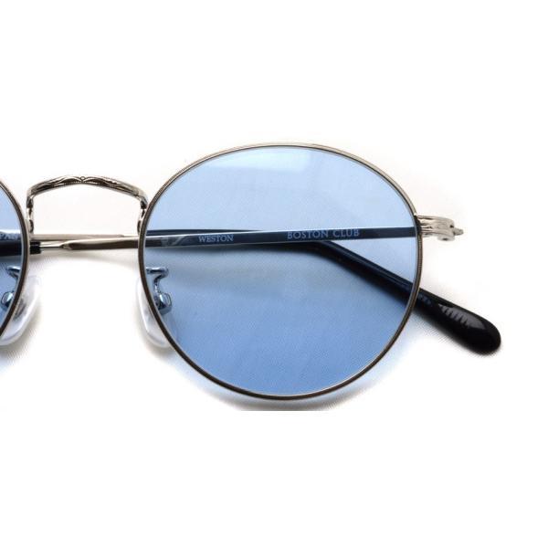 BOSTON CLUB ボストンクラブ WESTONSun 01 Silver - Blue Lenses シルバー-ライトブルーレンズ サングラス ボストン ラウンド|props-tokyo|03