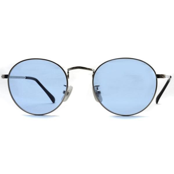 BOSTON CLUB ボストンクラブ WESTONSun 01 Silver - Blue Lenses シルバー-ライトブルーレンズ サングラス ボストン ラウンド|props-tokyo|04