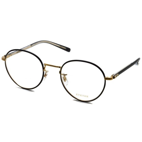 EYEVAN アイヴァン 0504 BKG ブラック-ゴールド メガネ ラウンドメタルフレーム|props-tokyo