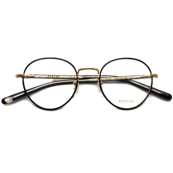 EYEVAN アイヴァン 0504 BKG ブラック-ゴールド メガネ ラウンドメタルフレーム|props-tokyo|02