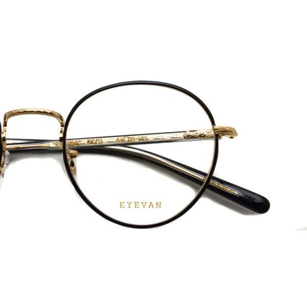 EYEVAN アイヴァン 0504 BKG ブラック-ゴールド メガネ ラウンドメタルフレーム|props-tokyo|05