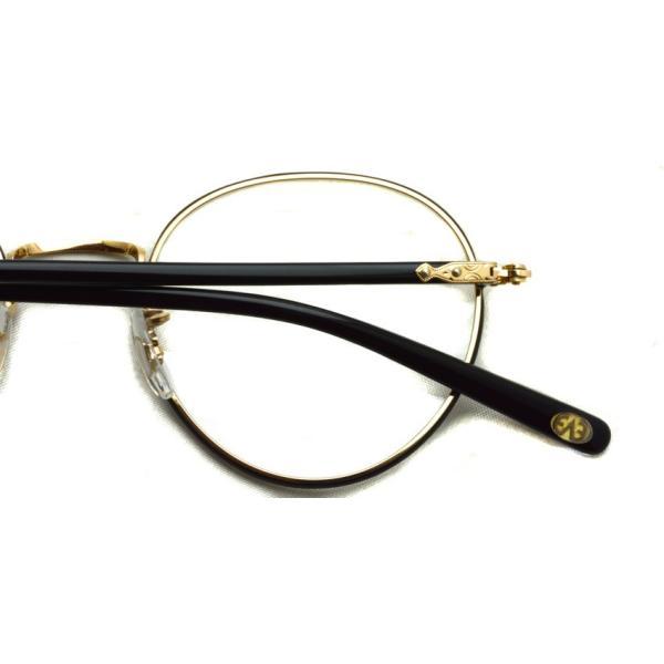 EYEVAN アイヴァン 0504 BKG ブラック-ゴールド メガネ ラウンドメタルフレーム|props-tokyo|06
