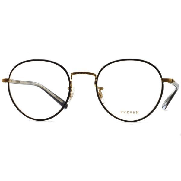 EYEVAN アイヴァン 0504 BKG ブラック-ゴールド メガネ ラウンドメタルフレーム|props-tokyo|07