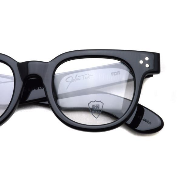 JULIUS TART OPTICAL タート メガネフレーム FDR エフディーアール BLACK ブラック サイズ 48|props-tokyo|04