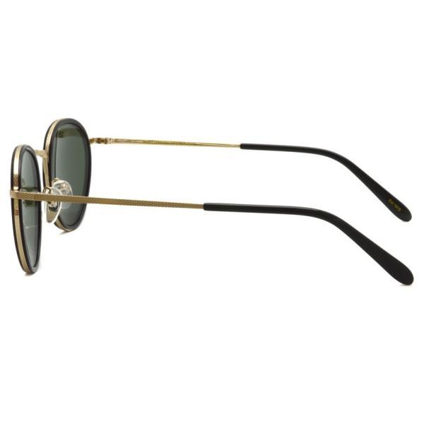MOSCOT モスコット サングラス BUPKES-Sun ブプケスサン Black / Gold-G15 ブラック/ゴールド - ダークグリーン ラウンドメタルサングラス|props-tokyo|03