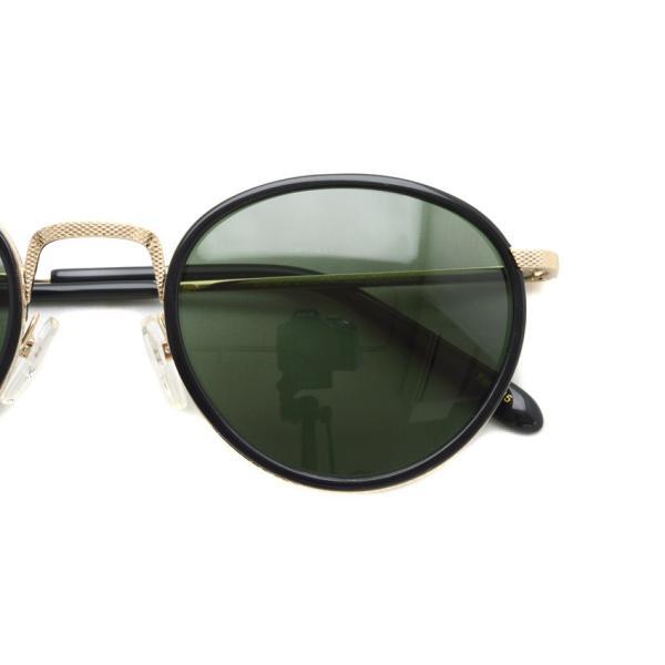 MOSCOT モスコット サングラス BUPKES-Sun ブプケスサン Black / Gold-G15 ブラック/ゴールド - ダークグリーン ラウンドメタルサングラス|props-tokyo|04