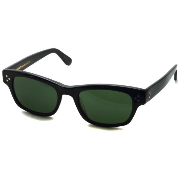 MOSCOT モスコット サングラス HYMAN-Sun ハイマン サン BLACK / G15 ブラック-ダークグリ−ンガラスレンズ|props-tokyo