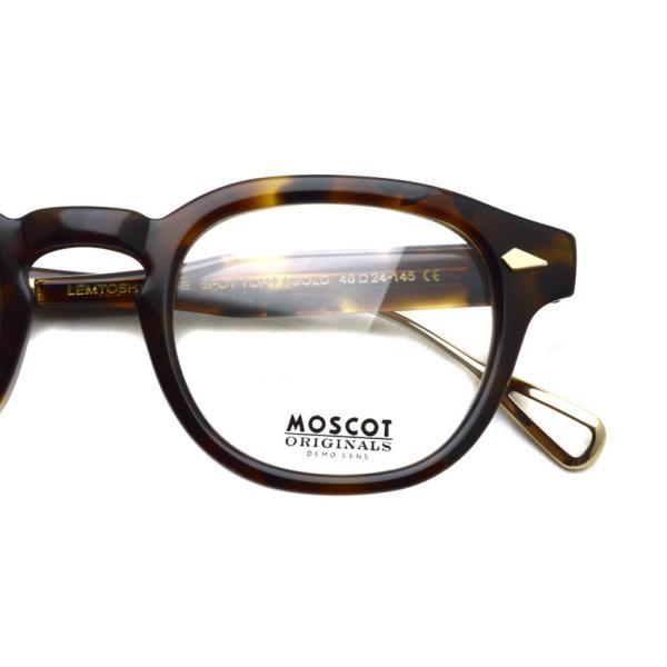 MOSCOT モスコット メガネ フレーム LEMTOSH TT SE レムトッシュ TITANIUM TEMPLE SPECIAL EDITION / Spot Tortoise - Gold|props-tokyo|04