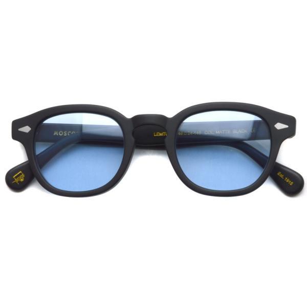 MOSCOT モスコット サングラス LEMTOSH-Sun レムトッシュサン MATTE BLACK-BLUE マットブラック・ブルー PROPSオリジナルカラーレンズ 【送料無料】|props-tokyo|02