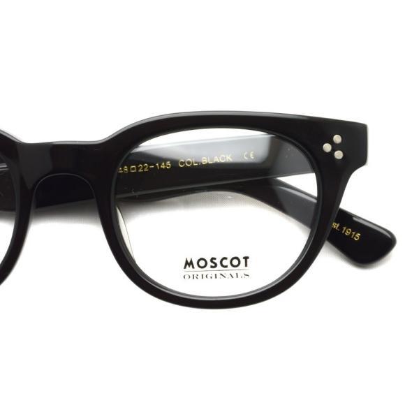 MOSCOT モスコット VILDA BLACK ブラック ウェリントンフレーム|props-tokyo|04