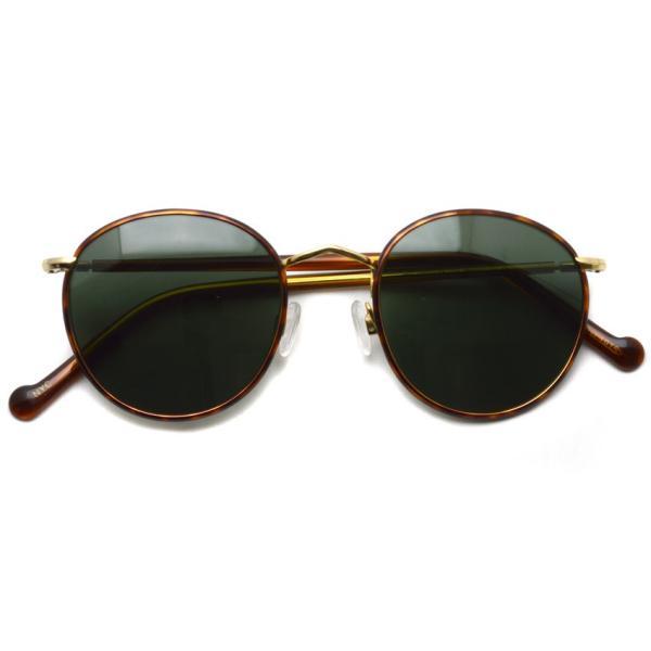 MOSCOT モスコット サングラス ZEV-Sun ゼブサン Blonde / Gold-G15 ライトトータス/ゴールド ボストンメタルサングラス|props-tokyo|02